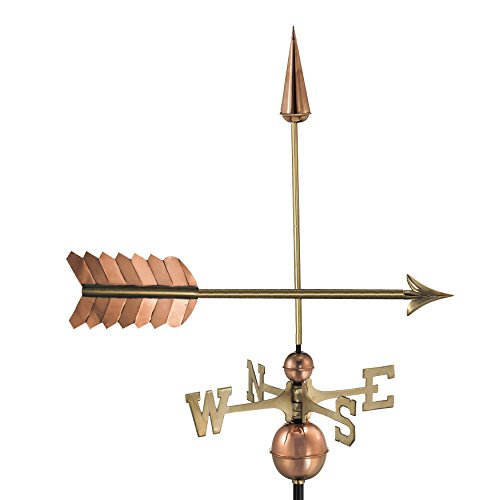Weathervane Arrow - Good Directions Arrow Weathervane, Pure Copper