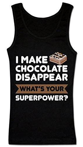 I Make Chocolate Disappear What's Your Superpower? T-shirt senza maniche da donna