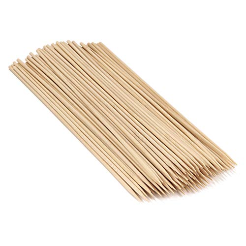 "BambooMN 18"" Long x 5mm Thick Sharp Point Bamboo Kabab Satay BBQ Skewers Party Supplies, 100 Pieces"