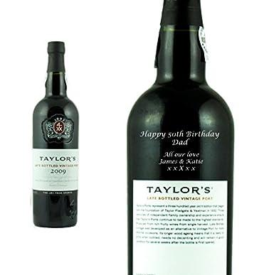 9cf298aa6c Personalised Taylors LBV Port Engraved Gift Bottle: Amazon.co.uk: Grocery