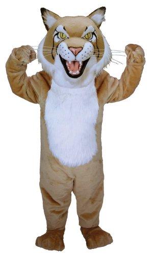 Tan Bobcat Mascot Costume (Bobcat Costume)
