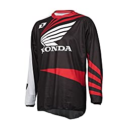 Honda Motorcycle Officially Licensed 1nd Atom Men\'s MotoX/Off-Road/Dirt Bike Motorcycle Jersey - Red / 2X-Large