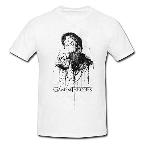 Tyrion-Lennister-Game-of-Thrones T-Shirt Herren, weiß mit Aufdruck