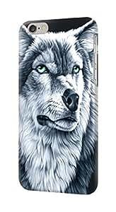 S0123 Grim White Wolf Case Cover for IPHONE 5C WANGJING JINDA