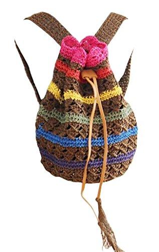 PPL - Bolso mochila  para mujer Marrón 3# 3#