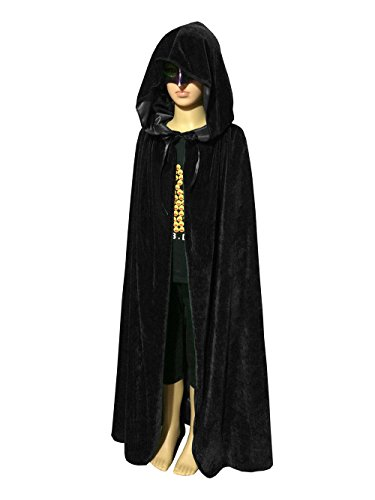 Which Witch Costume (Acecharming Kids Long Hooded Cape Halloween Fancy Dress (Black) by Acediscoball)
