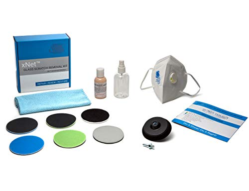 Glass Polish GP28003 DIY Glass Scratch Removal kit/xNet System/Removes: Scratches, Hard Limescale and Water Deposits, Graffiti and Acid Etching, Surface Marks/Suitable for Any Type of ()