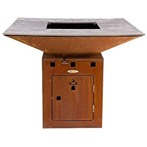Remundi Fire Bowl BBQ Grill and Patio Heater Cube L