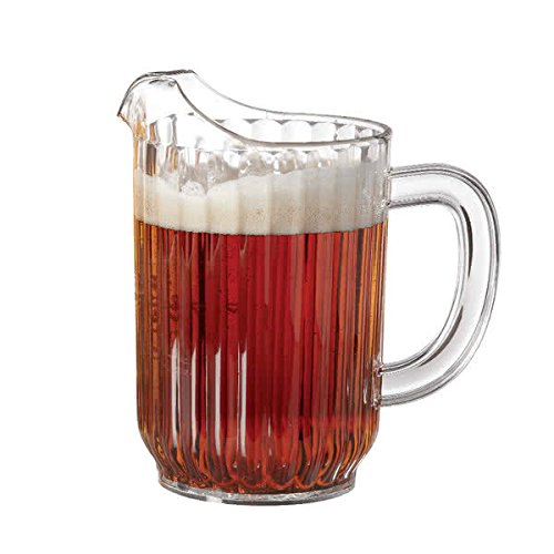 32 oz. Clear Plastic Pitcher, Dishwasher Safe, Break Resistant, for Indoor and Outdoor Entertaining, by GET P-3032-1-CL-EC (Pack of 1) (Plastic Dishwasher Safe Pitcher)