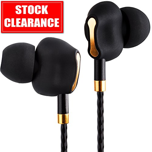 Premium Dual Driver Earbuds - Heavy Bass Earbuds w/ Mic - In Ear Headphones with 3.5mm Portable Bluetooth Receiver Headphones - Gaming Earbuds with Extension Cord 4-feet - Wired Earbuds for Men Women