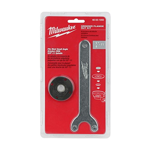 Milwaukee Genuine OEM 48-03-1050 Spanner Wrench and Spindle Flange Lock Nut Combination Kit for Angle Grinders with 5/8 Inch 11 Spindles (Angle Grinder Not Included) (Locknut Tool Kit)
