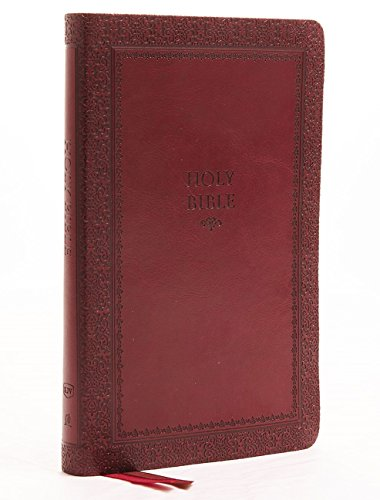 KJV, Thinline Bible, Standard Print, Imitation Leather, Red, Indexed, Red Letter Edition, Comfort Print