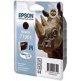Epson T1001 Nashorn, wisch- und wasserfeste Tinte (Singlepack) schwarz