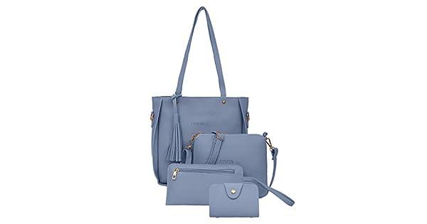 Amazon.com: Juego de 4 bolsos de mano para mujer, bolsos de ...