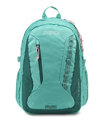 JanSport Women's Agave Backpack Ocean Teal and Lapland Green, Ocean Teal/Lapland Green