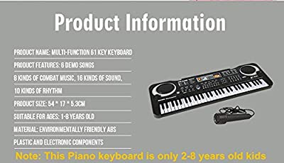 Piano Keyboard Music Digital Piano Electric Keyboards for kids Musical Instrument USB multi-function w/Microphone Weighted keys Birthday Christmas Festival Gift for children