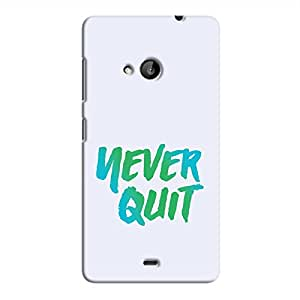 Cover It Up - Never Quit Lumia 535 Hard Case