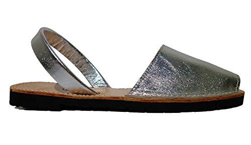 Sandali Piel Metalico Plata Di Autentici Colori Fantasia Vari Avarcas Minorca Silver Menorquinas rrFvAw