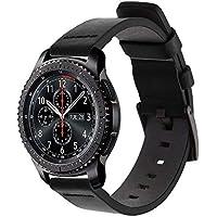 Pulseira de Couro para Samsung Gear S3 Frontier - Galaxy Watch 46mm - Preto
