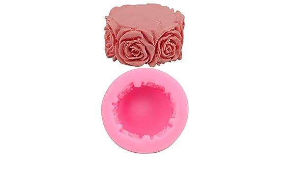 Fansi - Molde de Silicona para Tartas y Galletas, diseño de Rosas ...
