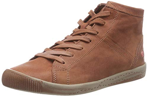 Braun brick A Washed Softinos Collo Sneaker Isleen Alto Donna 045 xnw8qWH0RW