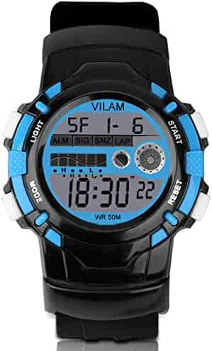 Kids Digital Sport Watch - Multi Function Sports Watch with Alarm 50M Waterproof Outdoor Wrist Watch with Colorful LED Lights and Detachable Watchband for Boys Girls