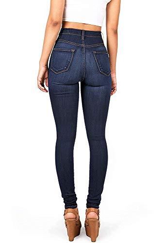 Scuro Skinny Rraspiranti Jeans Elasticizzati Da Huateng Blu Donna 80xg5Pq