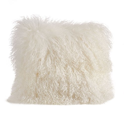 Saro LifeStyle 3564.I16S  Mongolian Lamb Fur Down Filled ...