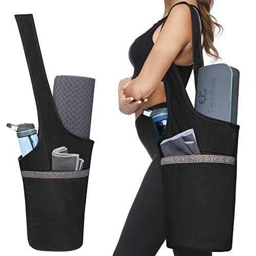 (Ewedoos Yoga Mat Bag with Large Size Pocket and Zipper Pocket, Fit Most Size Mats)