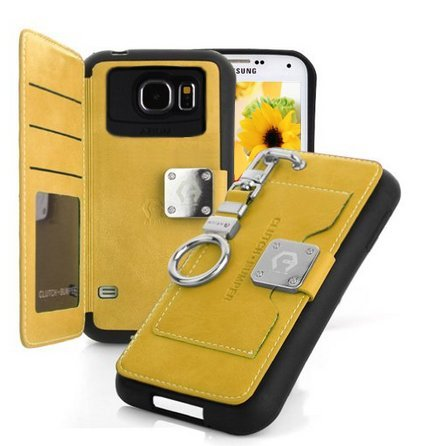 galaxy-s6-edge-caseyellow-back-pocket-case-5-card-slot-finger-holder-clip-pu-leather-tpu-bumper-clut