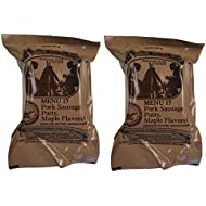 TWO (2) NEW MRE's 2020 - 2021 1st Insp. date - US Military Meals Ready-to-Eat w/FREE DESSERT! (Two 17's - Pork Sausage Patty, Maple)