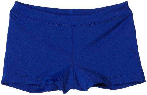 Capezio Big Girls' Boy Cut Low Rise Short,Royal,M (8-10) (Blue Cheer Shorts)