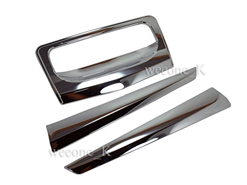 Chrome Rear Tailgate Handle Cover Hatch Trim Bezel Accent Lid For Isuzu Dmax D-max Pickup 2012-2014 V.3
