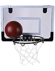 Alomejor Sistema de Baloncesto de Interior para Kit de aro de Baloncesto de Montaje en Pared para niños Que juegan un Juego de Juguete de Entrenamiento