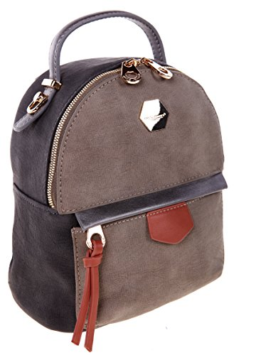 David Jones CM 3539 GRAU, Borsa a zainetto donna grigio Grau