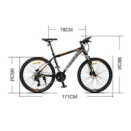 GEXIN 26 Inch Mountain Bike Dual Disc Brake, 27-Speed MTB Bikes, Lightweight and Durable for Men Women Bike, Aluminum Alloy Frame