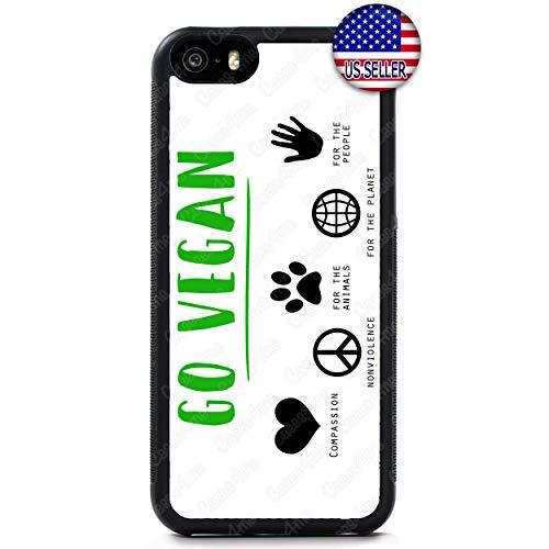 Go Vegan Phone Case Vegetarian Slim Capsule Shockproof Hard Rubber Custom Case Cover for iPhone X Xs Max XR 8 Plus 7 6