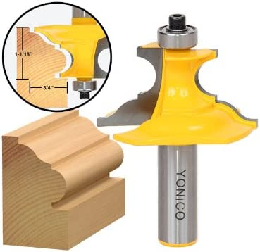 Yonico 16138 Architectural Molding Router Bit 1//2-Inch Shank
