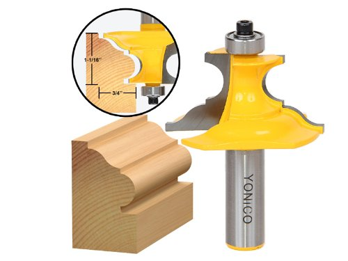 Yonico 16157 1-Inch Pedestal Base Architectural Molding Router Bit 1/2-Inch ()