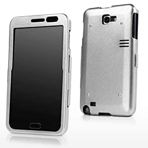 GALAXY Note (N7000) Case, BoxWave [AluArmor Jacket] Rugged Armor Metal Cover for Samsung Galaxy Note (N7000), T-Mobile, AT&T - Metallic Silver