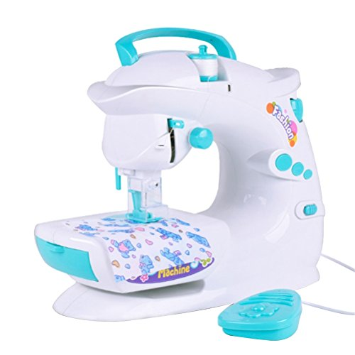 STOBOK Electric Sewing Quilting Machine Light Sound DIY Toys for Girls Kids Toddlers