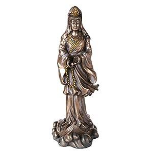 Bronze Kuan Yin Kwan Ying Statue Figure Deity Chinese Goddess of Compassion