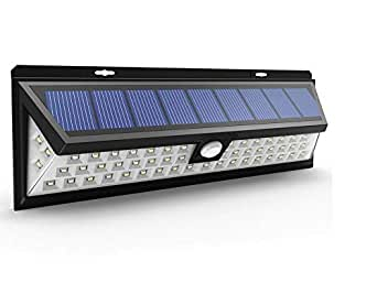 54 LED Security Solar light With 3 LEDs Both Side 120 Degree Wide Angle Motion Sensor