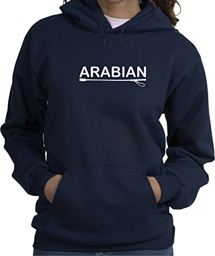 Arabian Horse Lover Navy Blue Hoodie with Soft Finish Lettering (Arabian Sweatshirt)