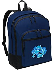 Classic Dolphin Backpack Medium Dolphins Backpack Laptop Sleeve