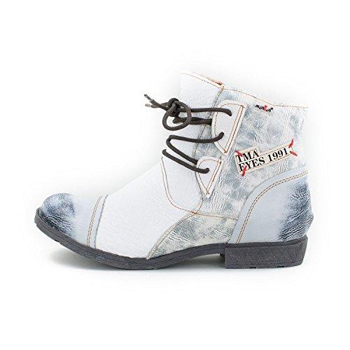 Tama TMA Women's Biker Boots White Size: 9 VdSnP62SdM