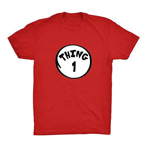 Cleefs Shirts Men's Dr Seuss Thing 1 2 3 4 5 6 7 8 9 T-Shirt Red Halloween S-4XL (Large, Thing Red (Thing 1 Thing 2 Thing 3)