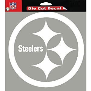 "WinCraft Pittsburgh Steelers Team Logo Die Cut Decal 8"" x 8"" (White)"