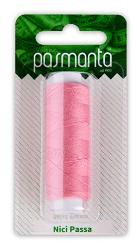 Strong Polyester Pro Sewing Thread, Many Colours Finest Spools, Universal All Purpose Hand and Machine Sewing, 200m - 220yd Coil Reel, by Pasmanta Made in Europe Since 1953 (5877 - Dark Pink) ()