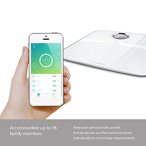 YUNMAI Premium Smart Scale - Body Fat Scale with Fitness APP & Body Composition Monitor with Extra Large Display - Works with iPhone.